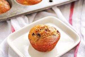 Chocolate chip banana nut muffins make an easy weekday breakfast.