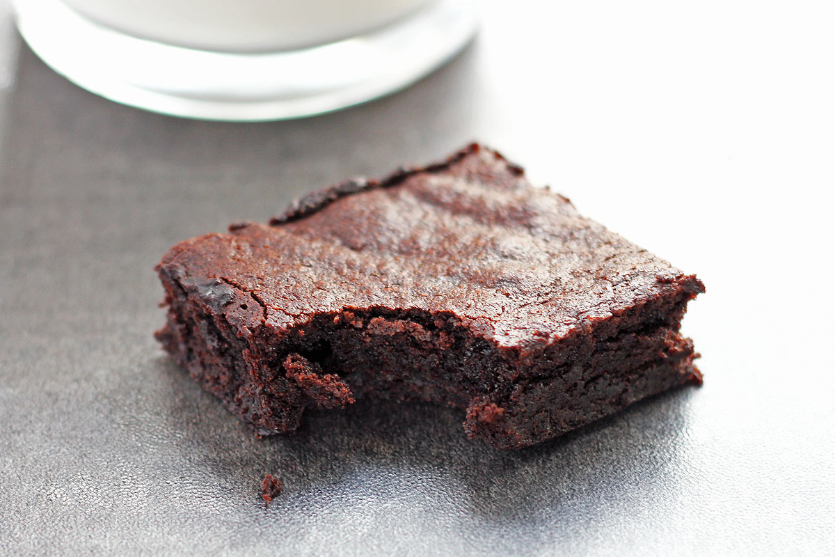 Dark Chocolate Brown Butter Brownies are a chocolate lovers dream