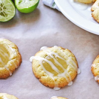 Key Lime Thumbprint Cookies