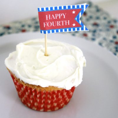 Vanilla Cupcakes + July 4th Printable
