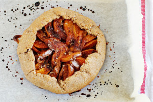 This soft, delicate Apricot Galette is full of fresh apricot flavor with hints of cinnamon and sugar, so easy and it's vegan!