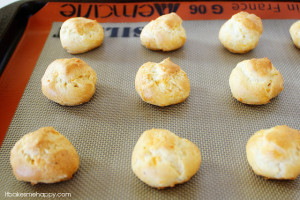 Four Cheese Profiteroles are soft, little puffs of dough filled with delicious cheese flavor, that are great served with soup or as an appetizer.