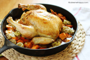 Roasted Chicken & Vegetables   it Bakes Me Happy