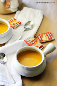 This creamy sweet potato soup, is loaded with veggies and makes a hearty meal for the cooler weather.