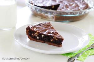 Ultimate Brownie Pie | It Bakes Me Happy