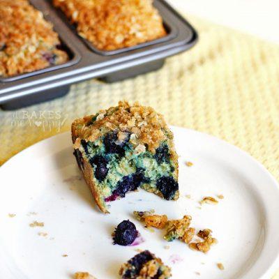 Streusel Topped Blueberry Oat Bread