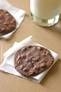 Soft, delicate fudge cookies loaded with caramel and pecans, these Caramel Fudge Ecstacies are an afternoon snack dream come true.
