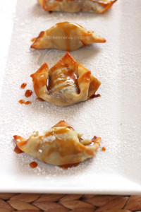 These Dessert Wontons are a quick, delicious snack or a super easy dessert perfect for your next dinner party!