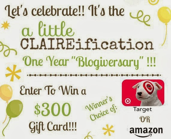 A Little Claireification Blogiversary Giveaway