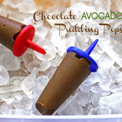 Chocolate Avocado Pudding Pops