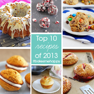 Top 10 Recipes of 2013 on It Bakes Me Happy