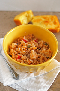 Crockpot Chicken Jambalaya | It Bakes Me Happy