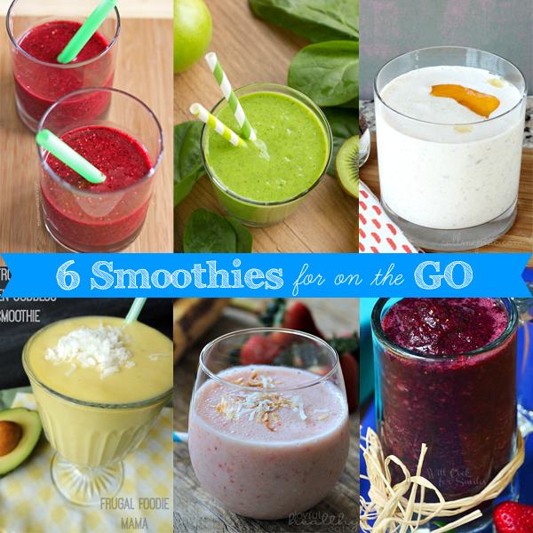 6 smoothies for on the go | It Bakes Me Happy