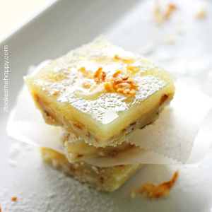 Toasted Coconut Lime Bars | It Bakes Me Happy