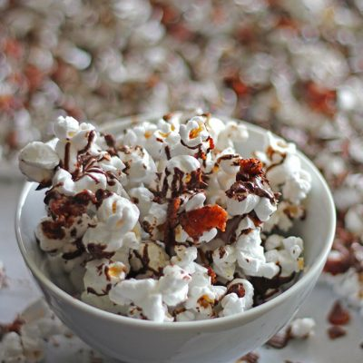 Bacon Chocolate Covered Popcorn