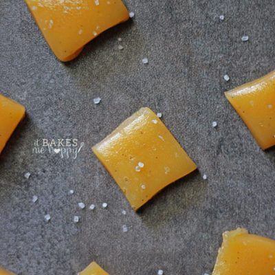 Vanilla Bean Sea Salt Caramels
