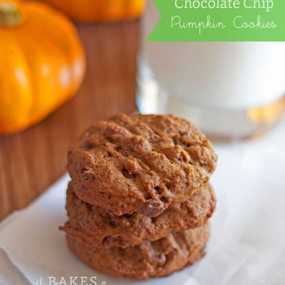 Chocolate Chip Pumpkin Cookies {Egg-free}