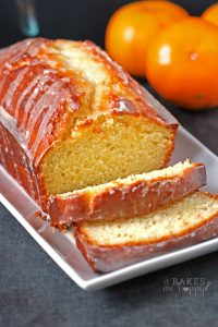 The bright fresh flavor of tangerine is baked into a loaf cake and glazed with a simple, delicious tangerine icing.