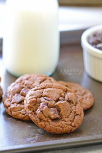 Rich Chewy Double Chocolate Chunk Cookies are soft chocolate cookies, loaded with chocolate chunks