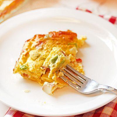 Ham and Veggie Breakfast Casserole