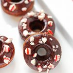Celebrate the holiday season with these fun Mini Chocolate Peppermint Donuts